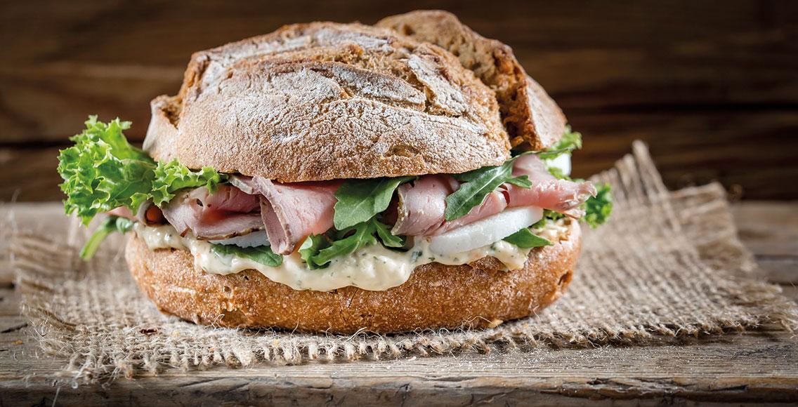 Sandwich in den Rubenbauer Genusswelten