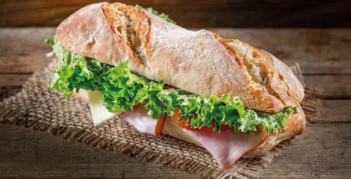 Schinken-Käse Sandwich in den Rubenbauer Genusswelten